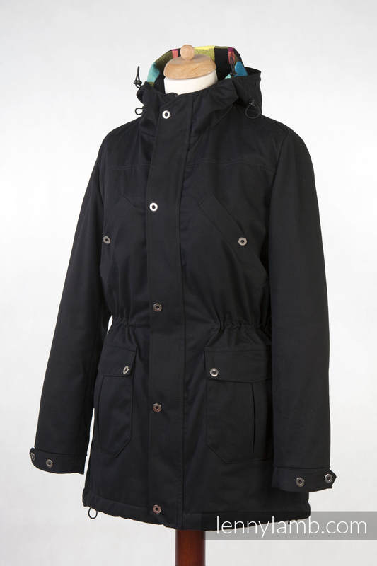 Parka Babywearing Coat - size XXL - Black & Diamond Plaid #babywearing
