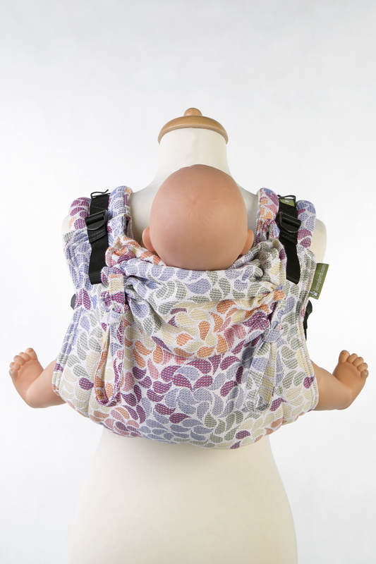 Lenny Buckle Onbuhimo, toddler size, jacquard weave (100% cotton) - Wrap conversion from COLORS OF LIFE #babywearing