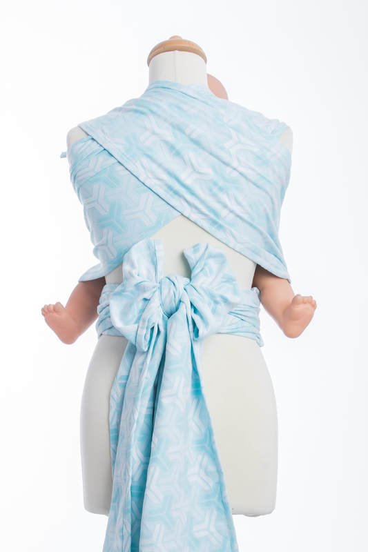 WRAP-TAI carrier Mini with hood/ jacquard twill / 100% cotton / TRINITY (grade B) #babywearing