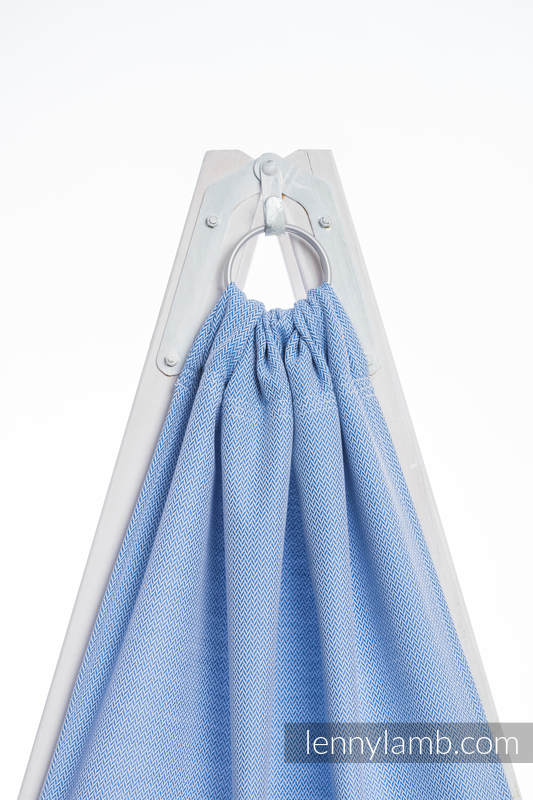 Ringsling, Herringbone Weave (100% cotton) - with gathered shoulder - LITTLE HERRINGBONE BLUE  (grade B) #babywearing
