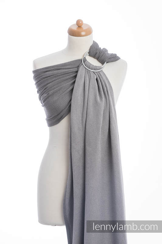 Ringsling, Herringbone Weave (100% cotton) - LITTLE HERRINGBONE BLACK  (grade B) #babywearing