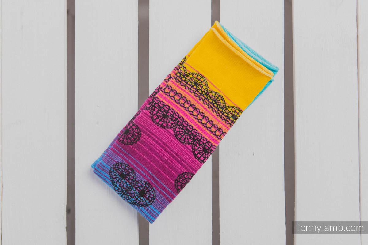 LennyLegs Long - baby leg warmers - RAINBOW LACE DARK #babywearing