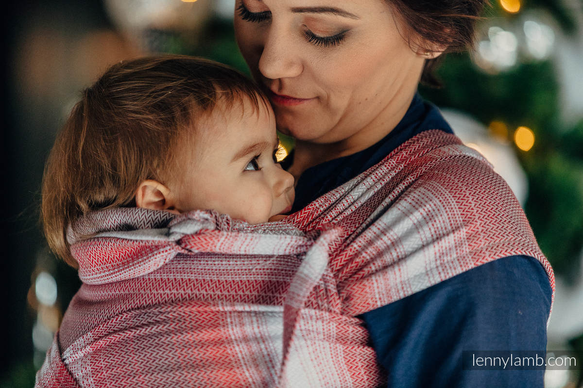 WRAP-TAI carrier Mini with hood/ herringbone twill / 100% cotton / LITTLE HERRINGBONE ELEGANCE  #babywearing