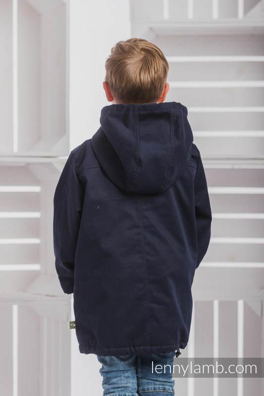 Parka Coat for Kids - size 116 - Navy Blue & Diamond Plaid