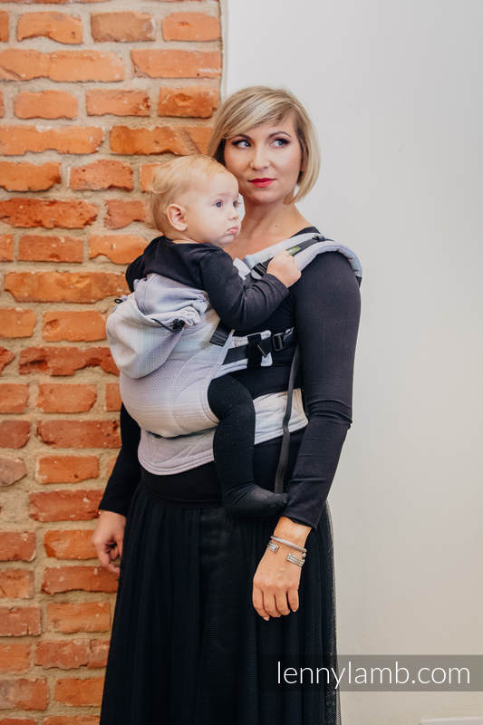 Ergonomic Carrier, Toddler Size, diamond weave 100% cotton - wrap conversion from DIAMOND ILLUSION LIGHT - Second Generation. #babywearing
