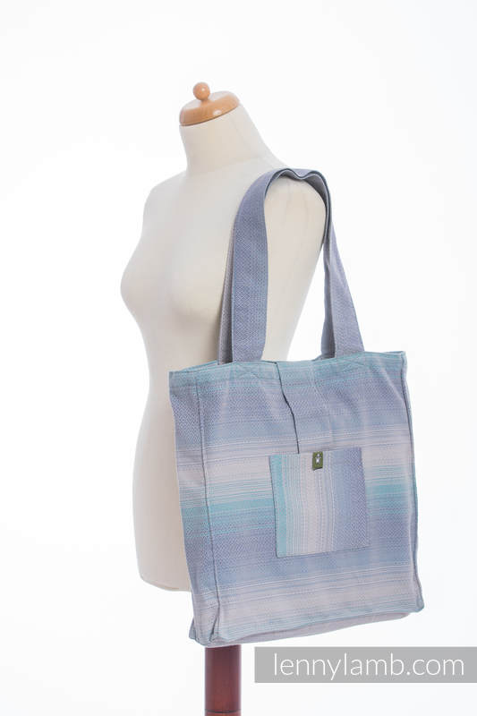 Shoulder bag made of wrap fabric (100% cotton) - DIAMOND ILLUSION LIGHT - standard size 37cmx37cm #babywearing