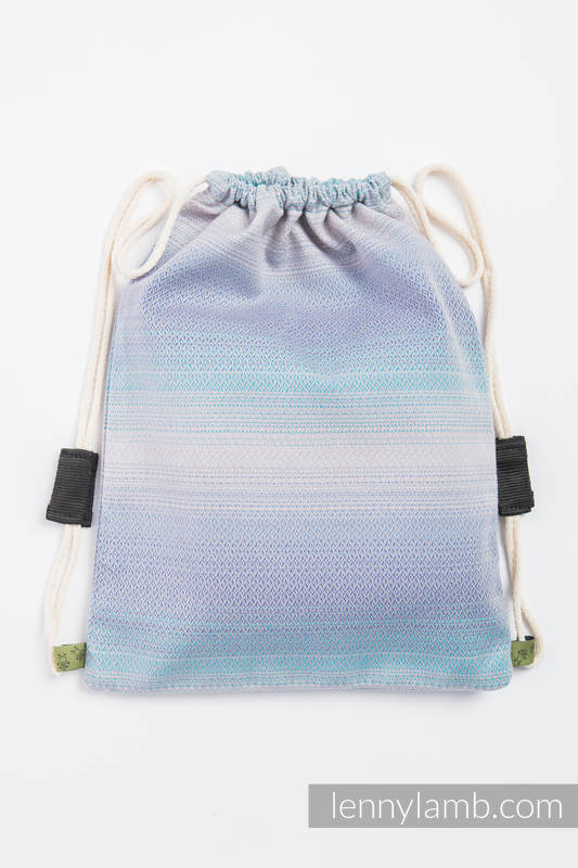 Sackpack made of wrap fabric (100% cotton) - DIAMOND ILLUSION LIGHT- standard size 32cmx43cm #babywearing