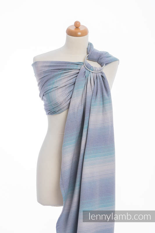 Ringsling, Diamond Weave (100% cotton) with gathered shoulder - DIAMOND ILLUSION LIGHT #babywearing