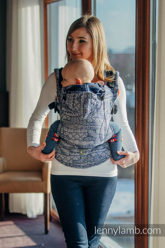 Ergonomic Carrier, Baby Size, jacquard weave 100% cotton - wrap conversion from FOR PROFESSIONAL USE EDITION - ENIGMA 2.0, Second Generation #babywearing