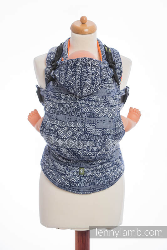 Ergonomic Carrier, Toddler Size, jacquard weave 100% cotton - wrap conversion from FOR PROFESSIONAL USE EDITION - ENIGMA 2.0, Second Generation #babywearing