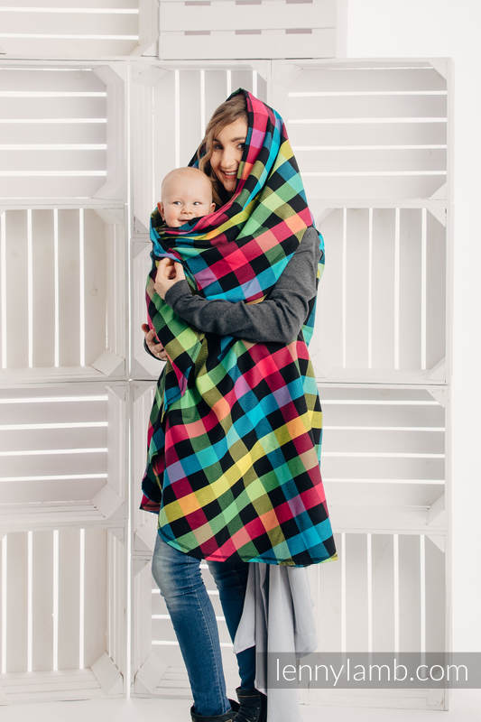 Long Cardigan - plus size - Diamond Plaid #babywearing
