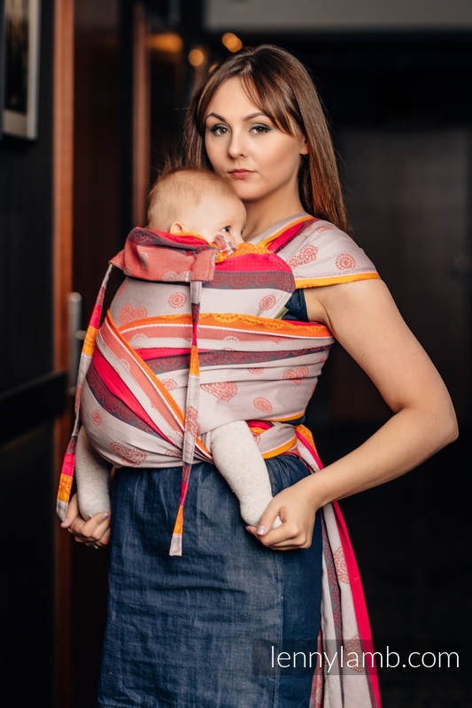 WRAP-TAI carrier Mini with hood/ jacquard twill / 100% cotton / CHERRY LACE 2.0 #babywearing