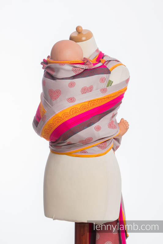 WRAP-TAI carrier Toddler with hood/ jacquard twill / 100% cotton / CHERRY LACE 2.0 #babywearing