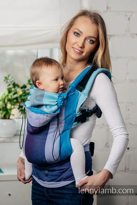 carrier for toddler. ergonomic carrier, toddler size, diamond weave 100% cotton - wrap conversion from finnish diamond second generation carrier for t