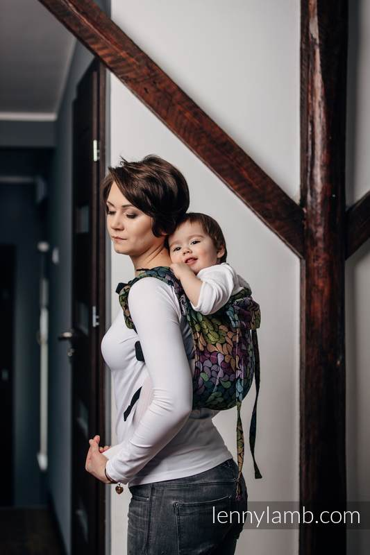 Lenny Buckle Onbuhimo, toddler size, jacquard weave (100% cotton) - Wrap conversion from COLORS OF RAIN #babywearing
