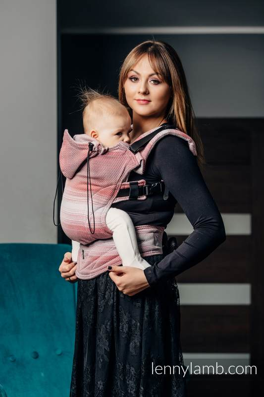 Ergonomic Carrier, Toddler Size, herringbone weave 100% cotton - wrap conversion from LITTLE HERRINGBONE ELEGANCE - Second Generation #babywearing