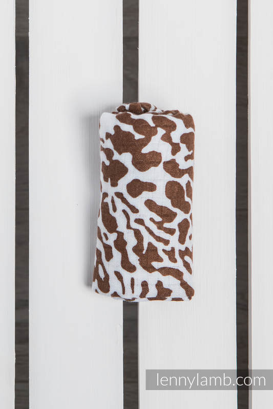 Muslin Square - CHEETAH BROWN & WHITE (grade B) #babywearing