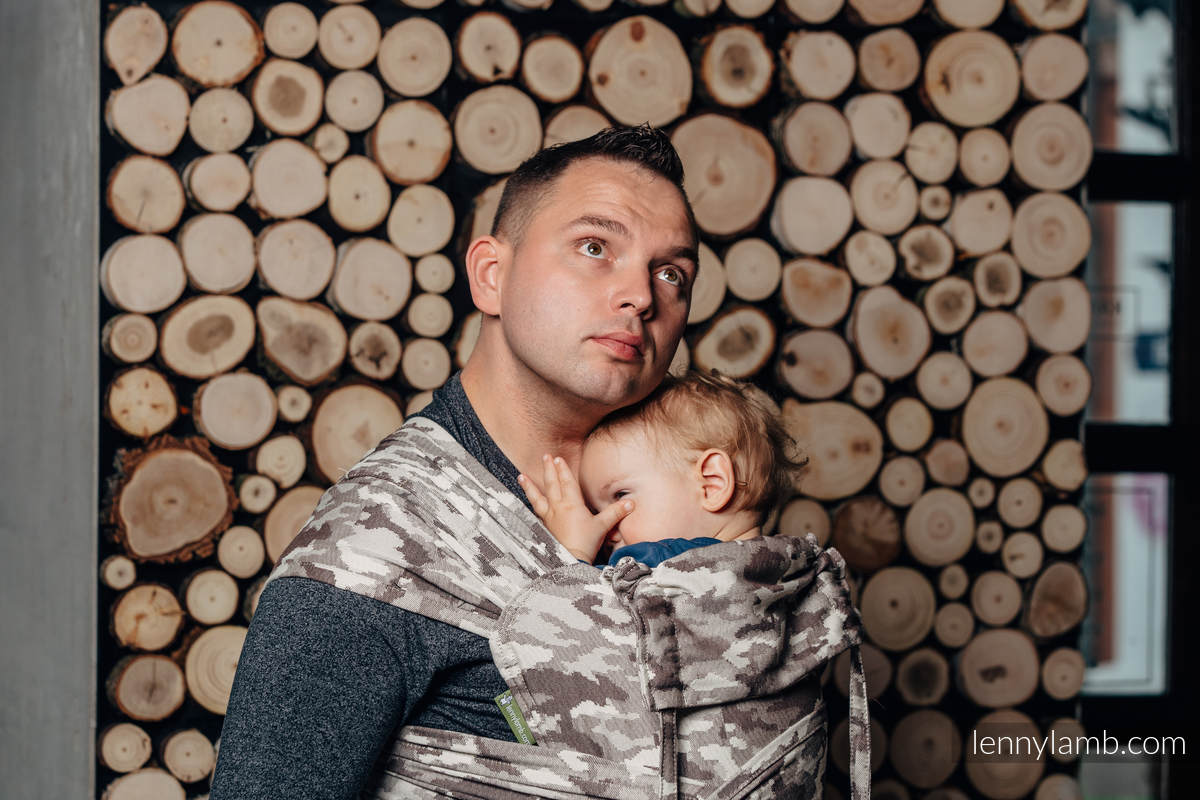 WRAP-TAI carrier Toddler with hood/ jacquard twill / 100% cotton / BEIGE CAMO #babywearing