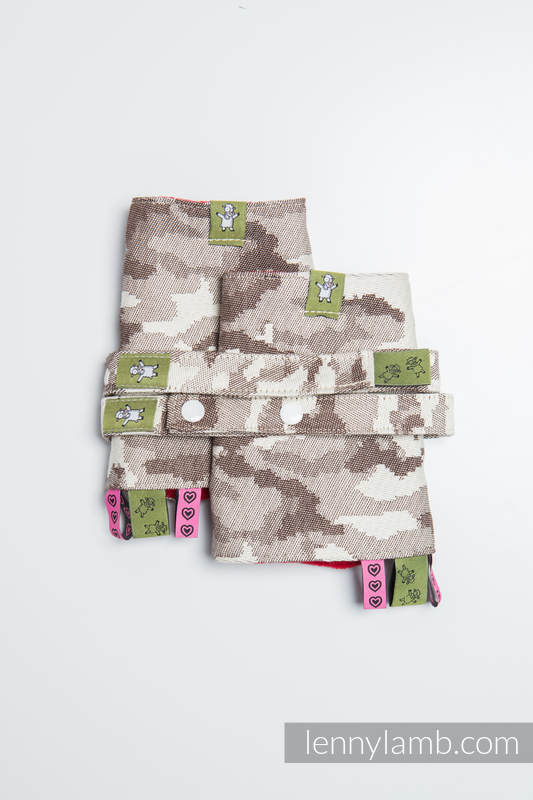 Drool Pads & Reach Straps Set, (100% cotton) - BEIGE CAMO #babywearing