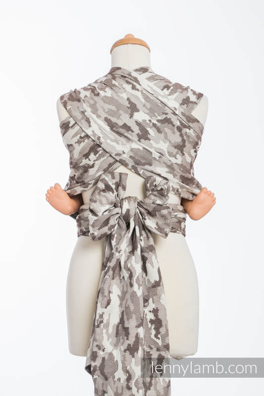 WRAP-TAI carrier Mini with hood/ jacquard twill / 100% cotton / BEIGE  CAMO #babywearing