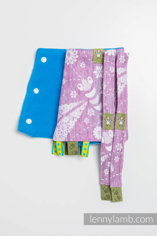 Drool Pads & Reach Straps Set, (60% cotton, 40% linen) - DRAGONFLY LAVENDER #babywearing