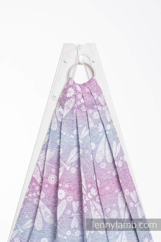 Ringsling, Jacquard Weave (60% cotton, 40% linen) - DRAGONFLY LAVENDER #babywearing