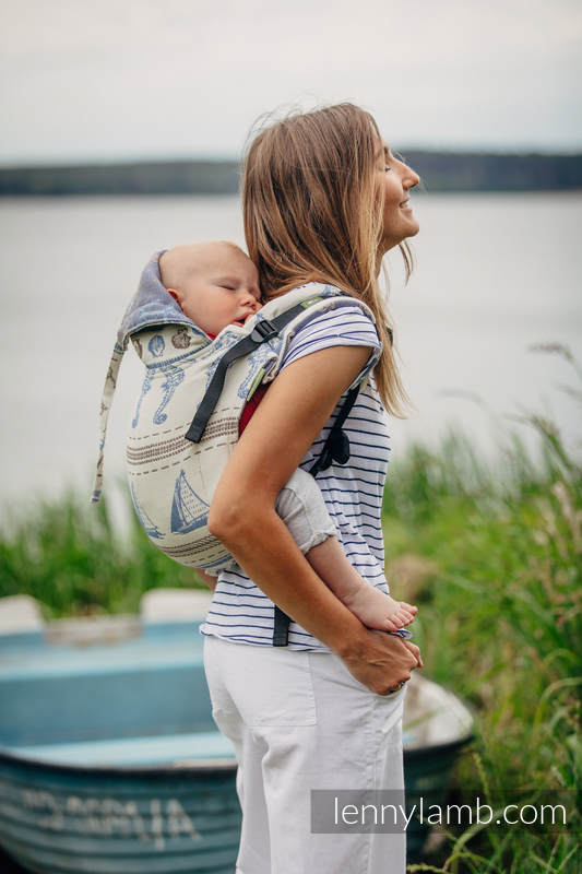 Lenny Buckle Onbuhimo, standard size, jacquard weave (100% cotton) - Wrap conversion from BALTICA 2.0 #babywearing