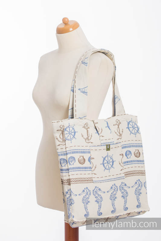 Shoulder bag made of wrap fabric (100% cotton) - BALTICA 2.0  - standard size 37cmx37cm #babywearing