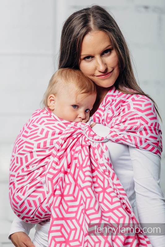 Basic Line Ring Sling - TOURMALINE - 100% Cotton - Jacquard Weave -  with gathered shoulder (grade B) #babywearing