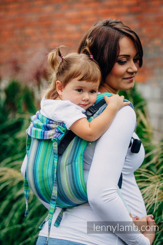 Lenny Buckle Onbuhimo, standard size, herringbone weave (100% cotton) - Wrap conversion from LITTLE HERRINGBONE AMAZONIA #babywearing
