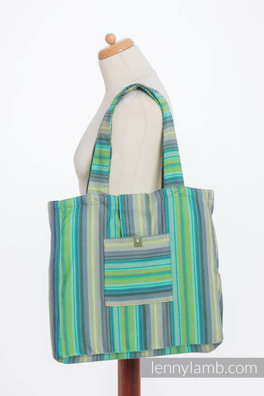 Shoulder bag made of wrap fabric (100% cotton) - LITTLE HERRINGBONE AMAZONIA - standard size 37cmx37cm #babywearing