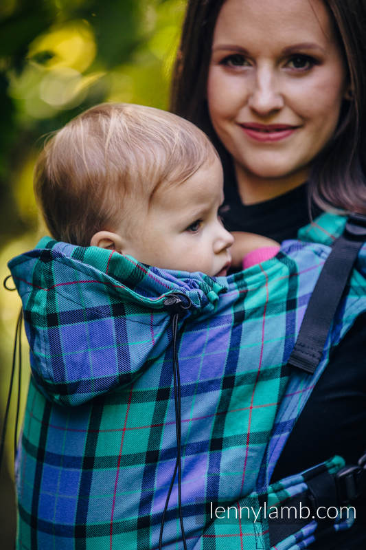 Ergonomic Carrier, Baby Size, twill weave 100% cotton - wrap conversion from COUNTRYSIDE PLAID - Second Generation. #babywearing