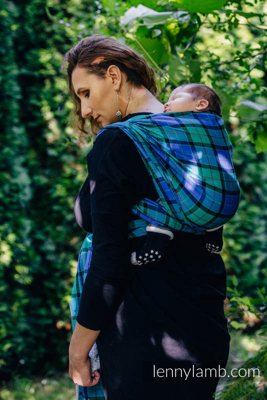 Baby Sling, Twill Weave, 100% cotton,  COUNTRYSIDE PLAID - size S #babywearing