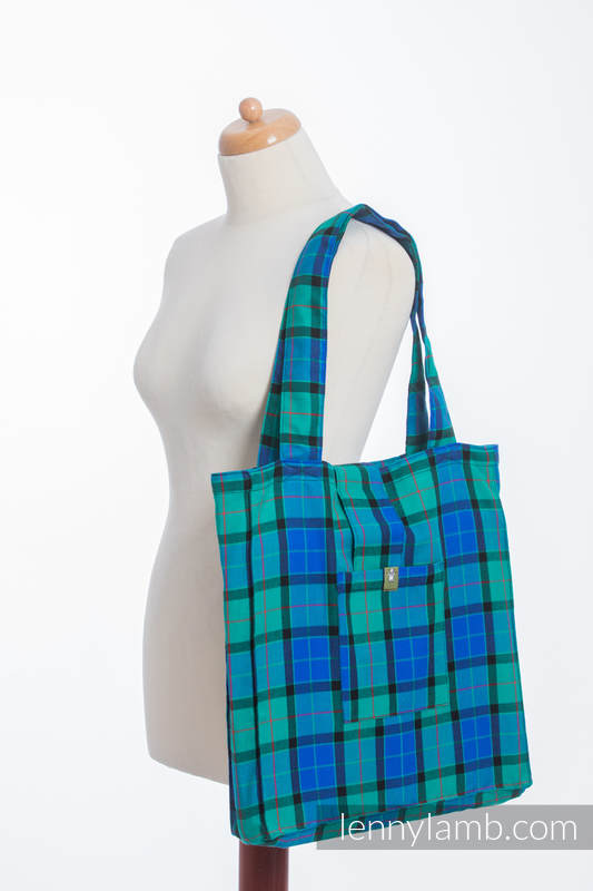 Shoulder bag made of wrap fabric (100% cotton) - COUNTRYSIDE PLAID - standard size 37cmx37cm #babywearing