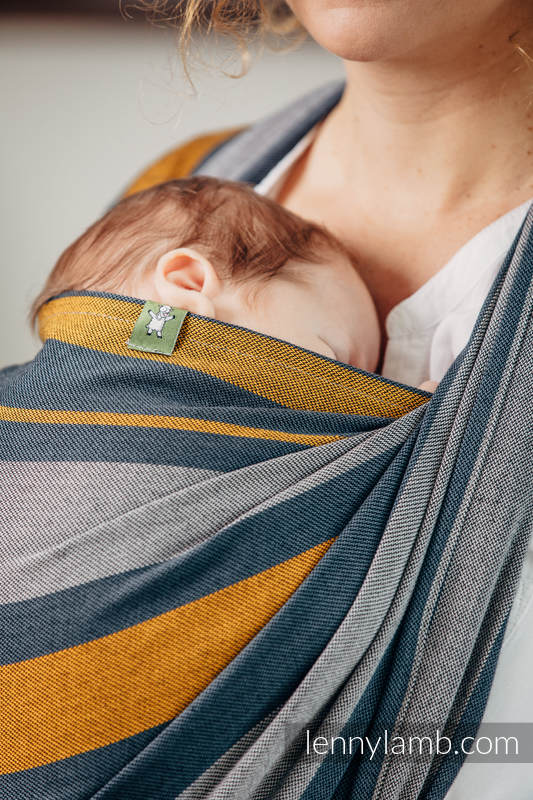 Baby Sling, Broken Twill Weave, 100% cotton,  SMOKY - HONEY - size XL (grade B) #babywearing
