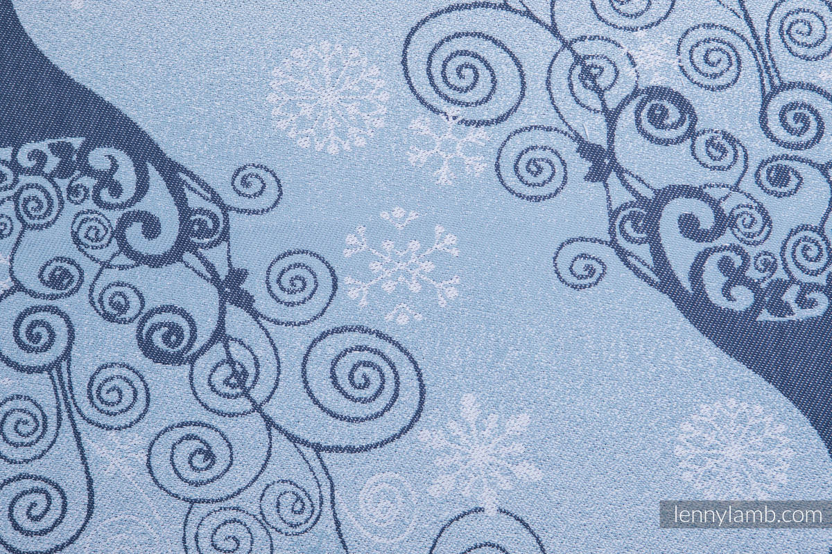 Baby Wrap, Jacquard Weave (100% cotton) - WINTER PRINCESSA - size XS #babywearing