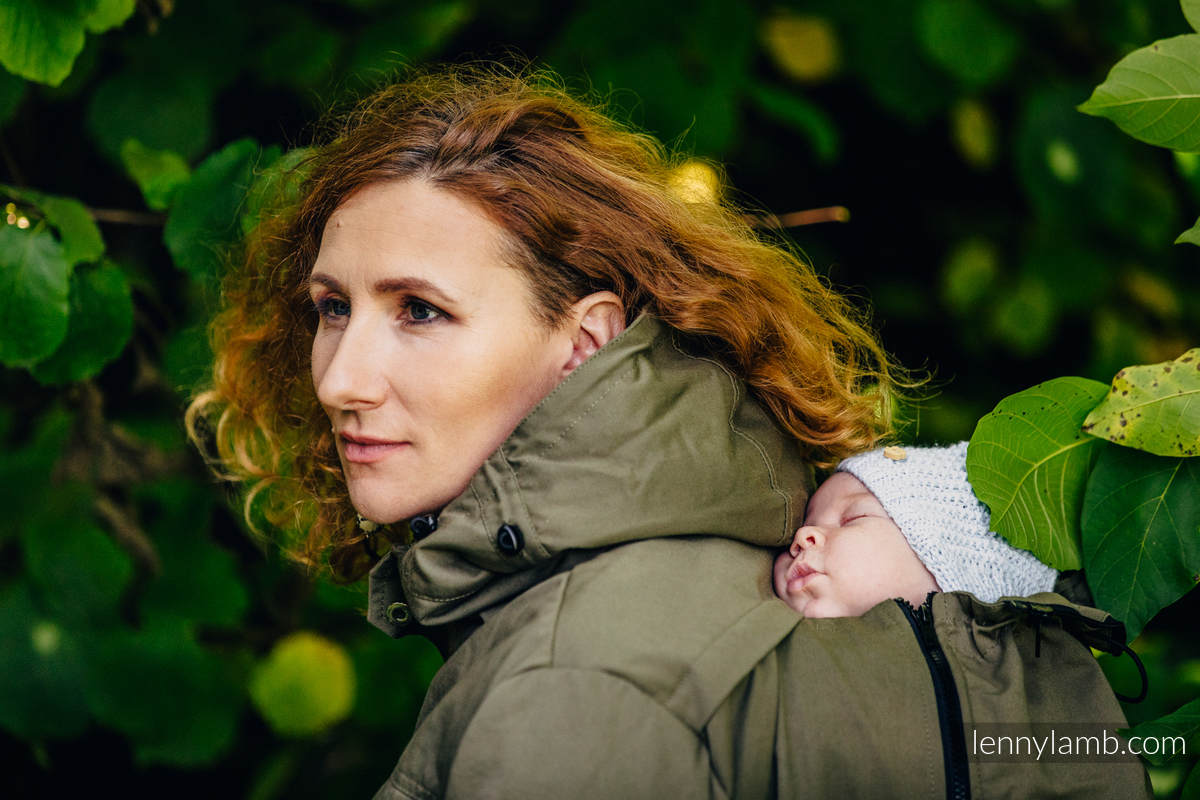 Parka Babywearing Coat - size M -  Khaki & Customized Finishing #babywearing