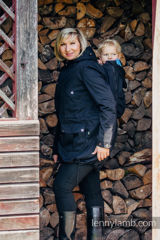 Parka Babywearing Coat - size XS - Black & Diamond Plaid #babywearing