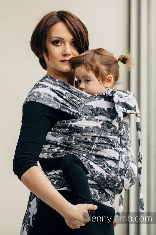 WRAP-TAI carrier Mini with hood/ jacquard twill / 100% cotton / FISH'KA (grade B) #babywearing