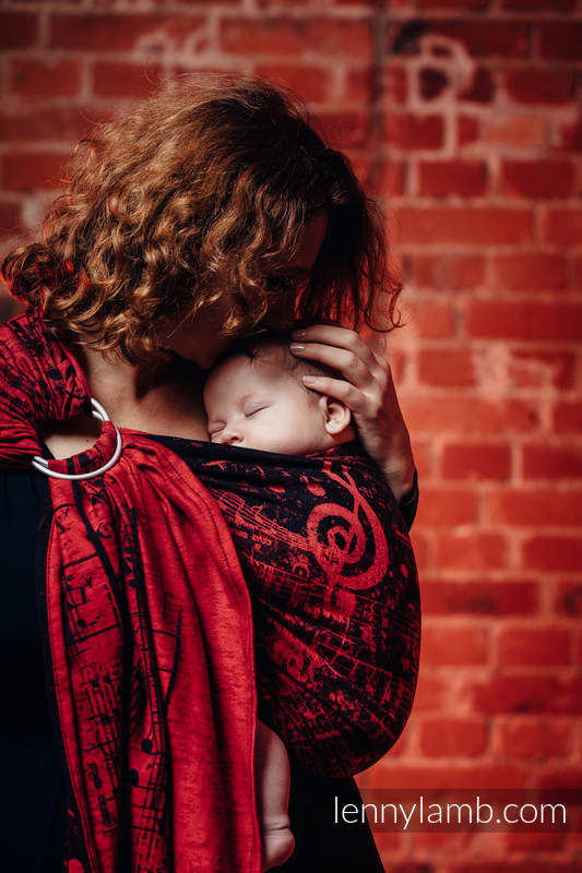 Ringsling, Jacquard Weave (100% cotton) - with gathered shoulder - SYMPHONY FLAMENCO #babywearing