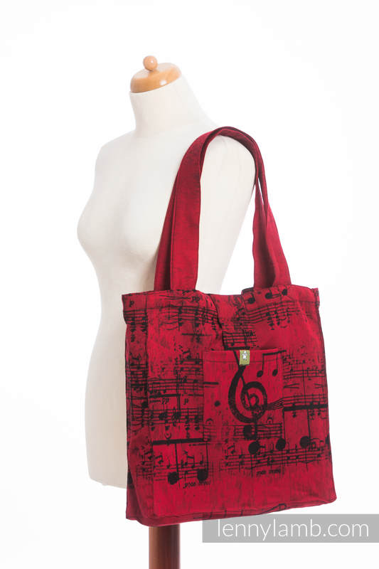 Shoulder bag made of wrap fabric (100% cotton) - SYMPHONY FLAMENCO - standard size 37cmx37cm #babywearing
