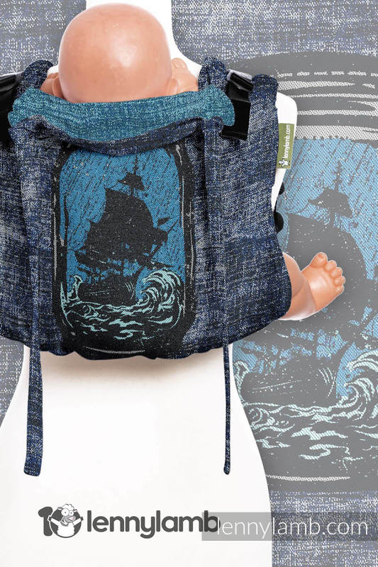 Lenny Buckle Onbuhimo, standard size, jacquard weave (100% cotton) - Wrap conversion from BE DREAMER!  #babywearing
