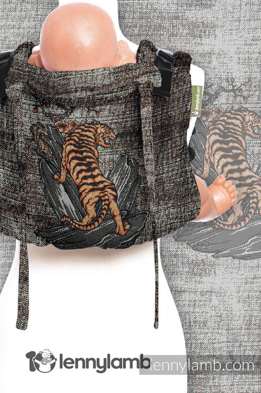 Lenny Buckle Onbuhimo, standard size, jacquard weave (100% cotton) - Wrap conversion from BE WILD! #babywearing