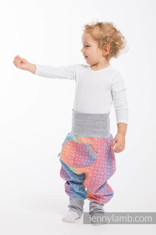 LennyBaggy - size 74 - Big Love - Rainbow & Grey #babywearing