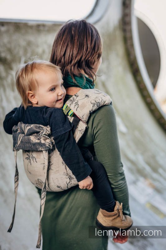 Lenny Buckle Onbuhimo, toddler size, jacquard weave (100% cotton) - Wrap conversion from HERBARIUM #babywearing
