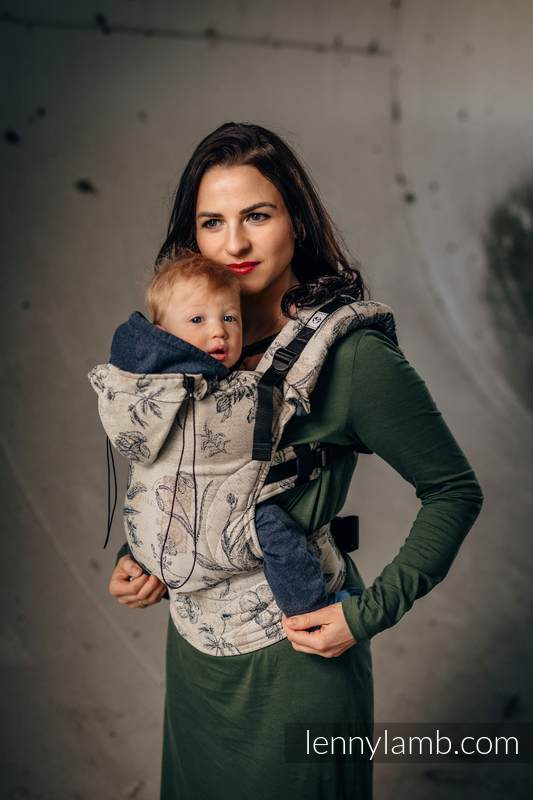 Ergonomic Carrier, Toddler Size, jacquard weave 100% cotton - wrap conversion from HERBARIUM - Second Generation #babywearing