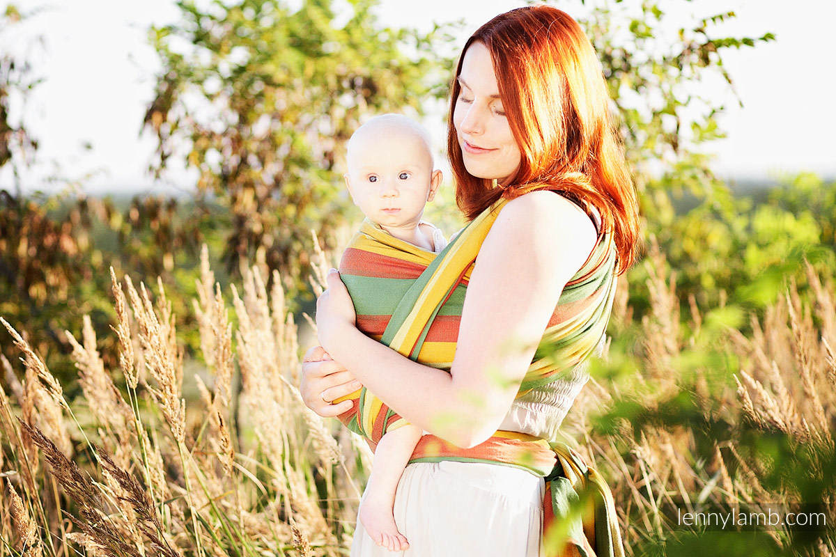 Baby Sling, Broken Twill Weave, 100% cotton,  INDIAN SUMMER - size S (grade B) #babywearing
