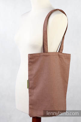 Shopping bag made of wrap fabric (100% cotton) - DIAMOND BROWN