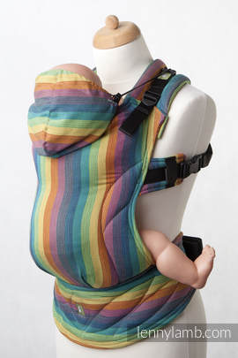 Ergonomic Carrier, Baby Size, broken-twill weave 100% cotton - wrap conversion from GAIA, Second Generation (grade B)