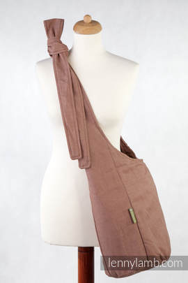 Hobo Bag made of woven fabric, 100% cotton - DIAMOND BROWN